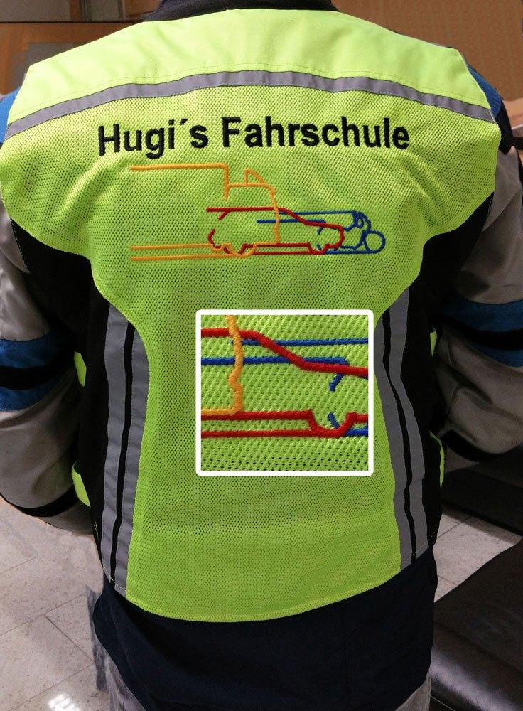 Hugi-Motorradweste-bestickt